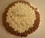 Torta con panna vegetale e crema pasticcera veg