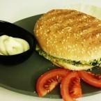 Hamburger con Burger di spinaci