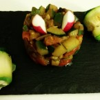 Rosa di zucchine e involtino di zucchine
