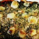 Tortino agli spinaci, patate e formaggio veg