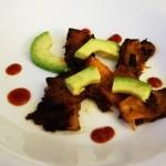 Zucca fritta con avocado