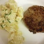Burger di Borlotti con insalata di patate