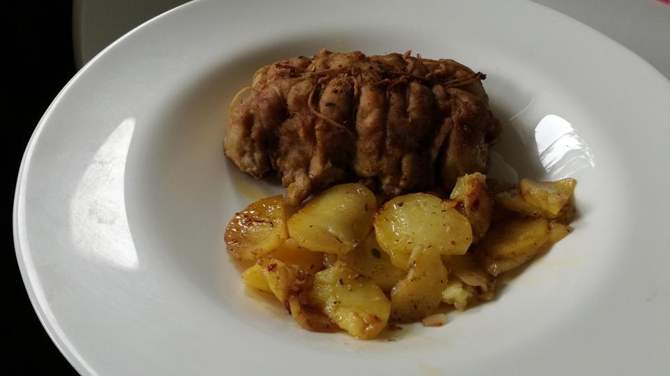 Arrosto di Seitan con patate al forno
