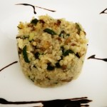Bulgur con zucchina, pangrattato e olive